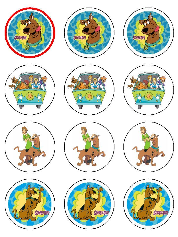 720 960 scooby doo party pinterest for Scooby doo cake template
