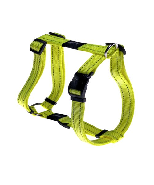ROGZ UTILITY DOG H-HARNESS - DAYGLO. Available from www.nuzzle.co.za