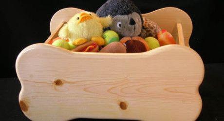 Bone-Shaped Pet Toy Box by Woodin' You