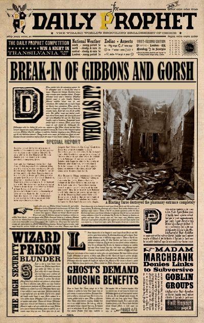 Daily Prophet: Break-in of Gibbons & Gorsh