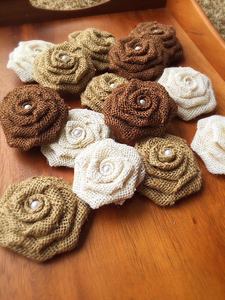 A personal favorite from my Etsy shop https://www.etsy.com/listing/287440039/20-burlap-rosettes-bulk-burlap-roses