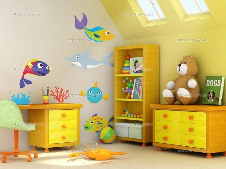 Muurstickers Babykamer & Kinderkamer Vissen Onderwater (Kit)