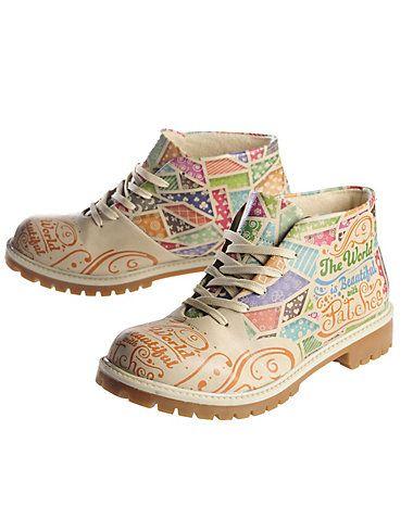 Stiefeletten Patches von Dogo-Shoes in bunt