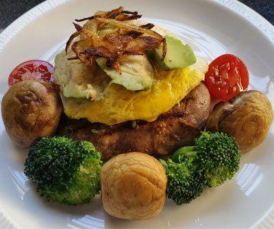 Pora steak - Perfect Keto meal - Rump, egg and veg  http://takingontimnoakes.co.za/pora-steak/