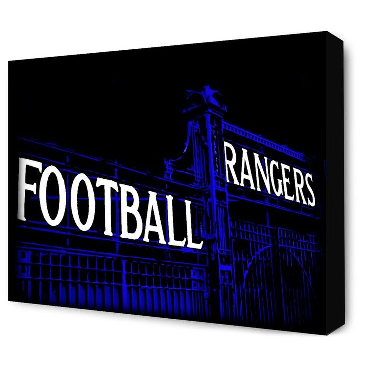 """New for 2017! The Blue Gates of Ibrox Stadium.Canvas Sizes available:20"""" x 16""""30"""" x 20""""• Next working day dispatch. • Quality canvas print • Supplied ready to ha..."""