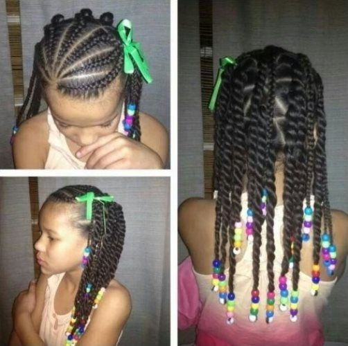The 25 best black girl braided hairstyles ideas on pinterest braided hairstyles black for kids with beads urmus Gallery