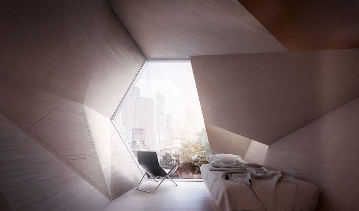 Framlab proposes parasitic hexagonal pods to sleep New York's homeless