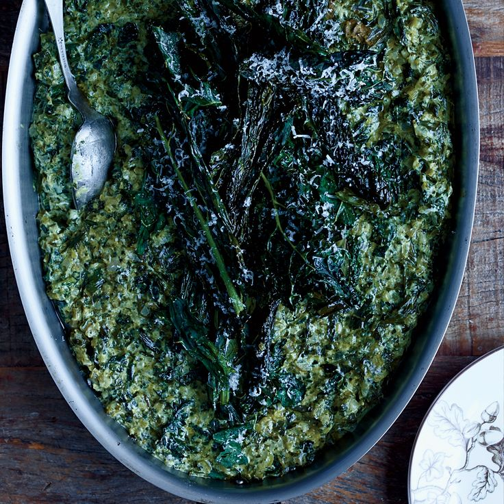 Creamed Kale   Food & Wine I made this with coconut milk instead of cream, and it was amazing.