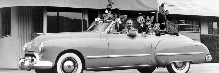 Walt Disney, Goofy, Donald Duck, Mickey Mouse, Minnie Mouse and Pluto at The Walt Disney Studios Entrance