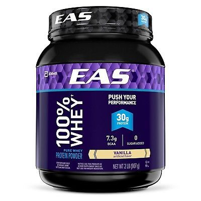 EAS 100% Pure Whey Protein Powder, Vanilla, 2 lb (Packaging May Vary) 2lb Tub7  EAN - 0791083634786, UPC - 791083634786, Flavor - Vanilla, Size - 2lb Tub, Manufacturer Part Number - 63477