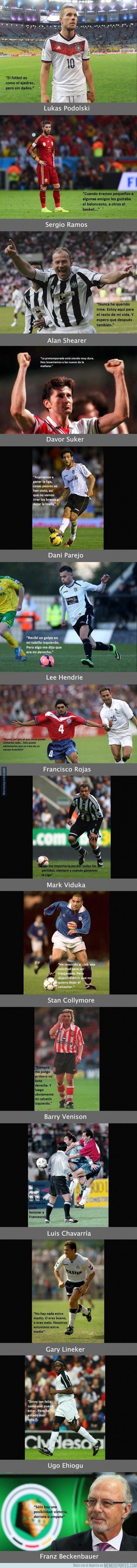 366647 - Las frases más absurdas de los futbolistas