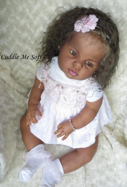 AA / Ethnic Biracial Reborn Toddler For Sale Arianna by Reva Schick