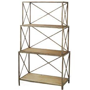interesting shelf $2503 Tiered Metals, Decor Blowout, Griffin Display, Shelves, Art Display, Iron Frames, Display Vintage, Display Shelf, 3Tier Metals