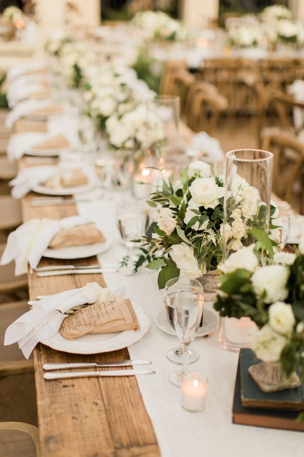 Rustic Greenery Wedding Table Decor: Http://www.stylemepretty.com/