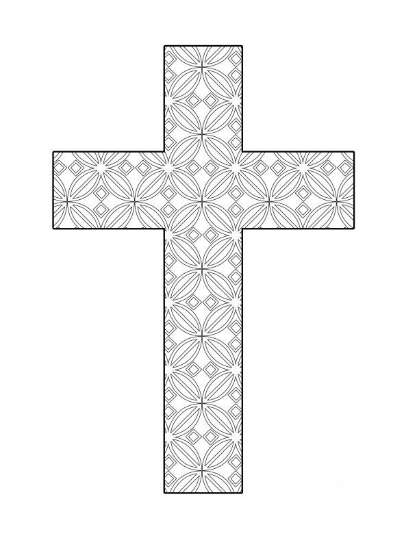 15 best christian coloring pages images on pinterest for Coloring pages of crosses with flowers
