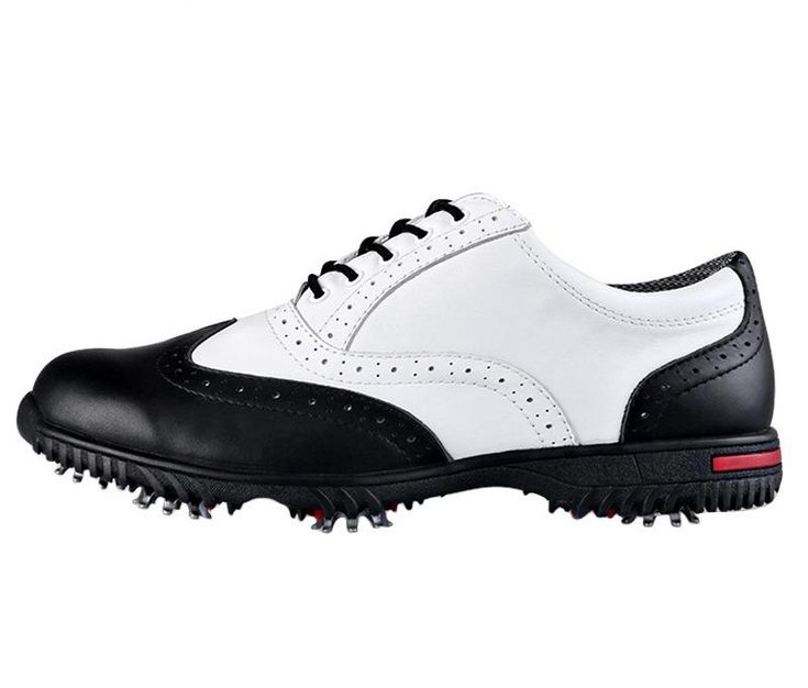 Mens Pgm Cowhide Leather Golf Shoes
