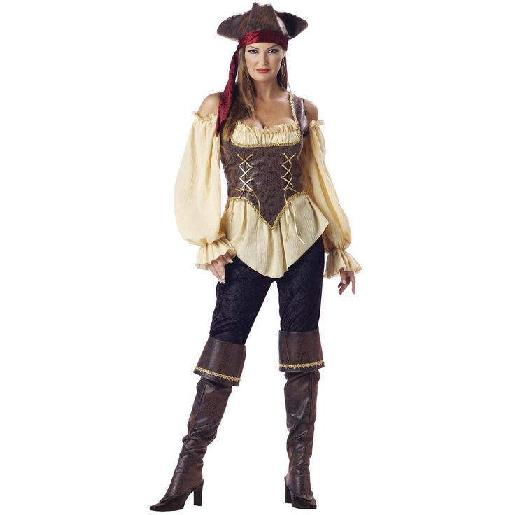 Rustic Pirate Lady Adult Lg