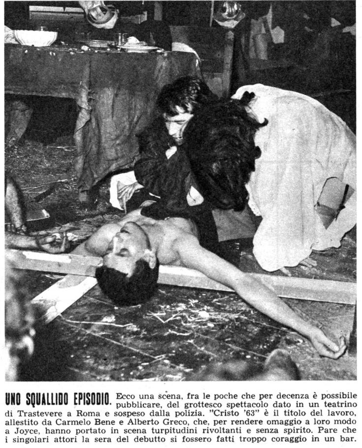 """Carmelo Bene in """"Cristo '63"""""""