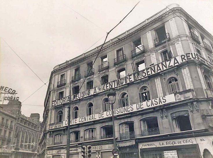 Spain - 1936-39. - GC - Puerta del Sol, Madrid