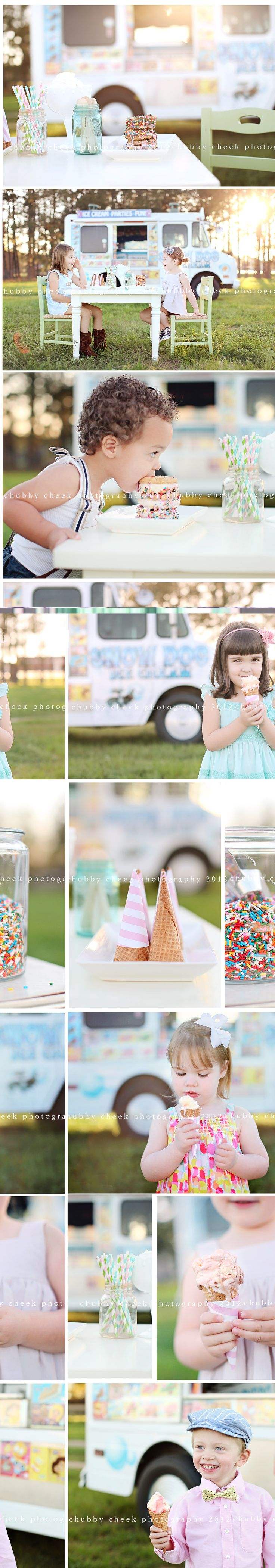 Ack! Did you see these ice cream minis by @Shalonda Chaddock from Chubby Cheek Photography!? Shalonda, you are amazing!