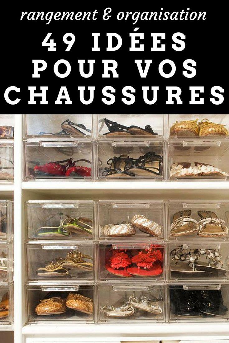 61 Idées & Astuces pour le Rangement des Chaussures (avec images) | Astuce rangement chaussures ...