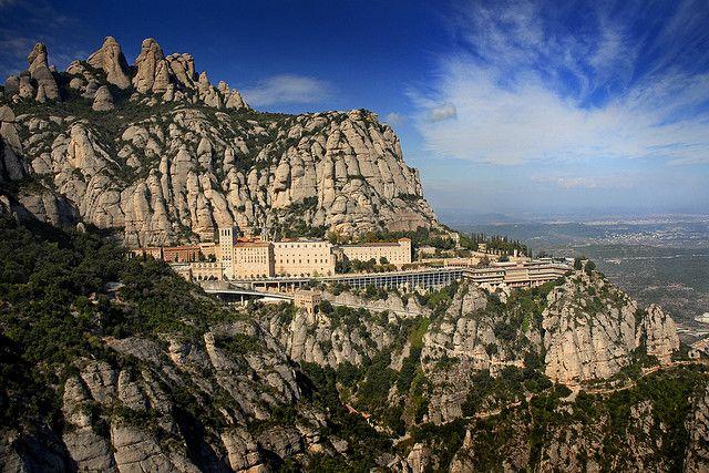 Montserrat mountain and monastery near Barcelona, Catalonia, Spain