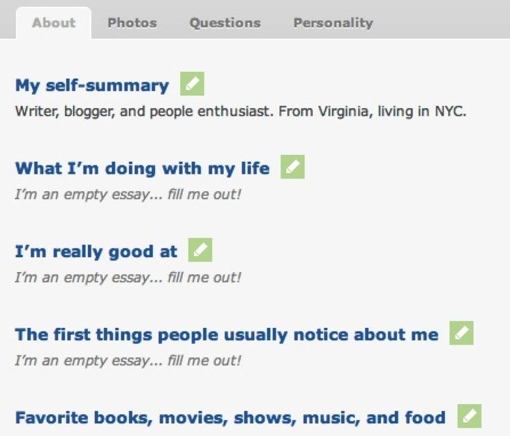 How to write a dating profile self summary. Dating for one night.