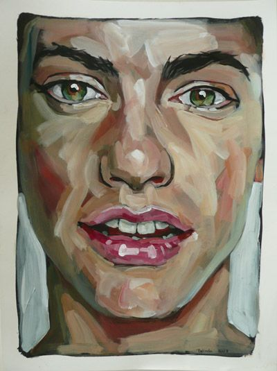 Acrylic Paintings of Faces | faces-on-paper-ii-20081