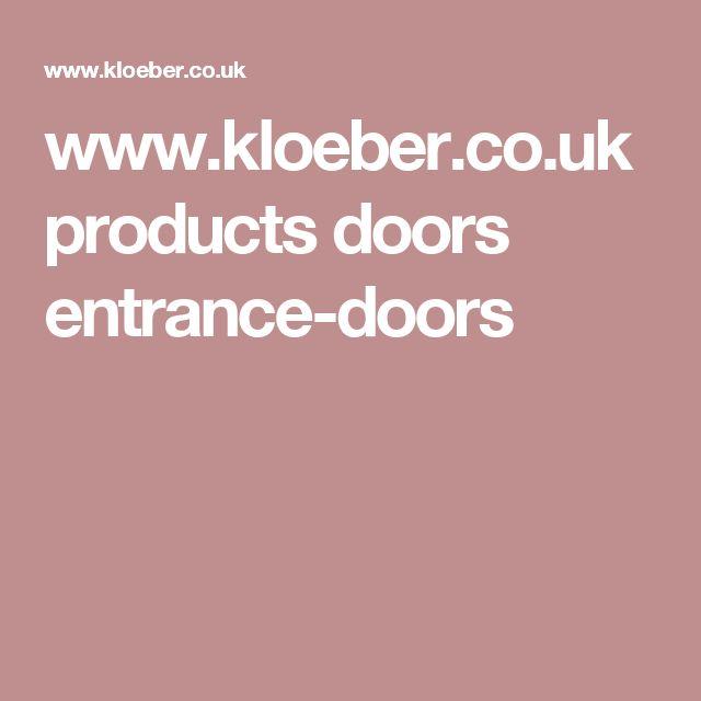 www.kloeber.co.uk products doors entrance-doors