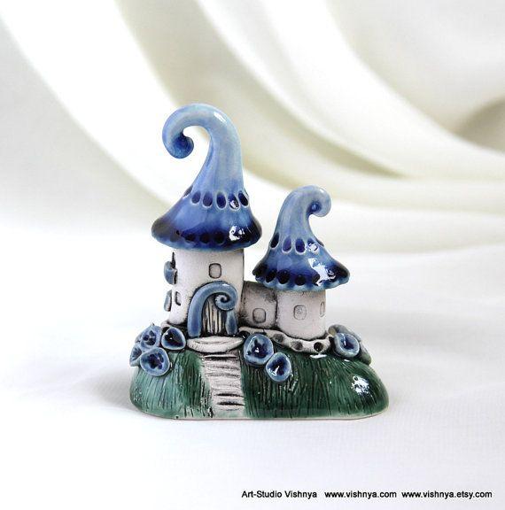 Blueberry House of tiny fairies by studio Vishnya by vishnya, $33.00