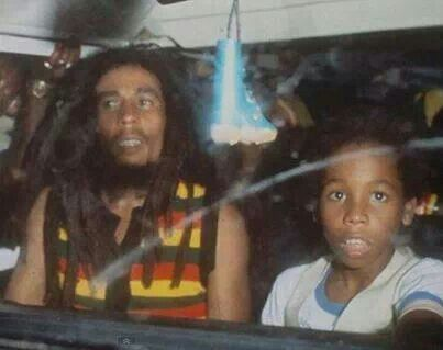 """Father and Son: Nesta and David """"Ziggy""""."""
