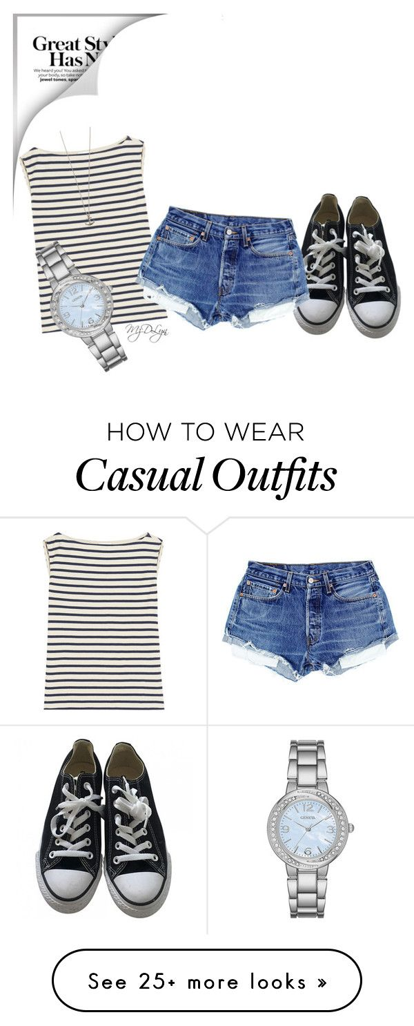 """""""Casual Girl"""" by mzdlyn on Polyvore featuring Yves Saint Laurent, Converse, Geneva and Lyla Loves"""