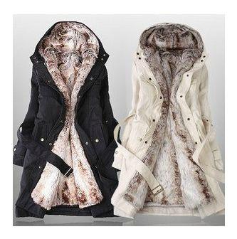 Faux Fur Lined Coat lol okay I'll admit I would like a coat like this.