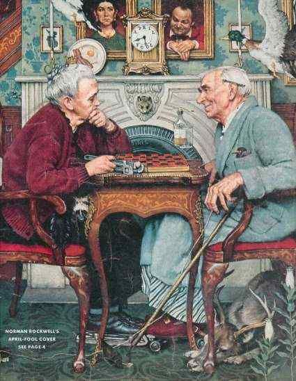 "Norman Rockwell ""April Fool"" Cover ....look close.....very time I look at it I see something new."