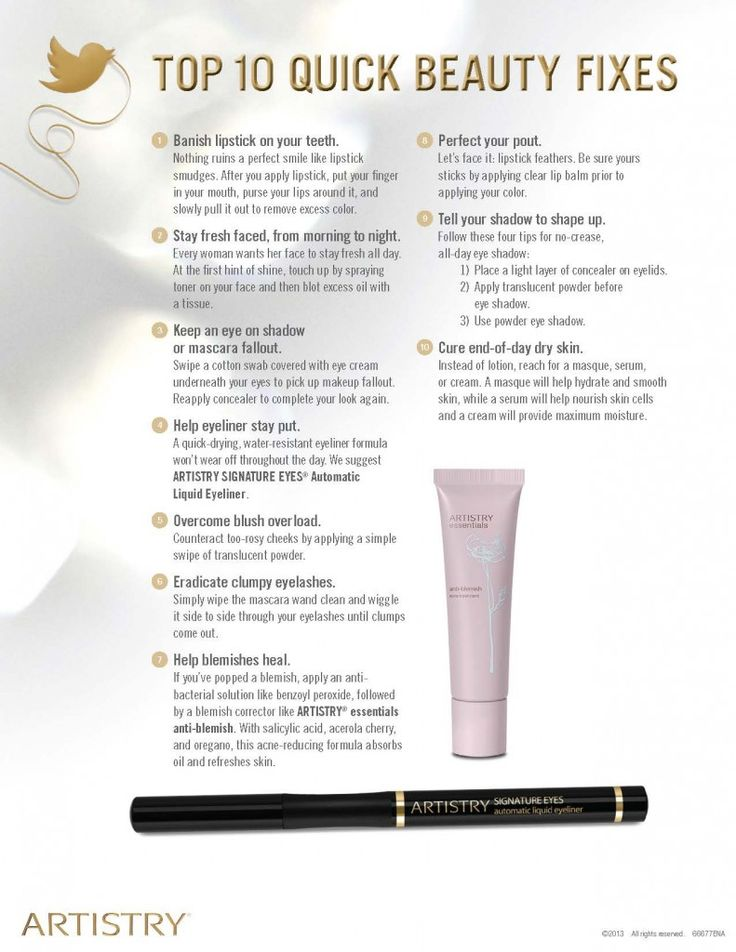 Top 10 Quick Beauty FixesIf you want to know more go to http://www.amway.com/hazelfernandez or contact to me 786-357-4716