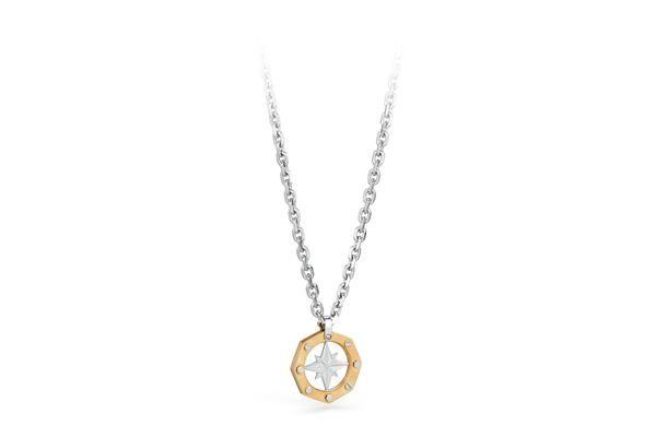 JEWELS | OCEAN | Brosway #brosway #ocean #mare #gioielli Collana in acciaio e pvd oro Collezione Ocean