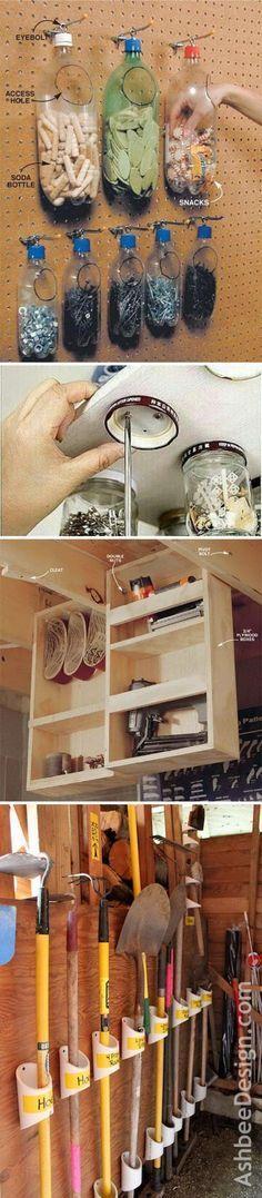 Great DIY Ideas for Garage Storage and Organization