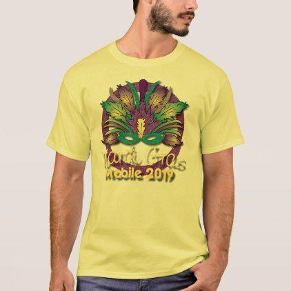 Mardi Gras Mask T-shirt 2019 - Mobile AL - glitter glamour brilliance sparkle design idea diy elegant