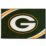 Green Bay Packers Force Tufted Rug at the Packers Pro Shop