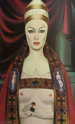 "Felix Labisse  ""The Hierophant ""  wow, she's more powerful and sexual than the usual heriophant!"