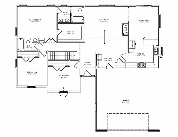 3 Bedroom Floor Plan House | Design Ideas 2017 2018 | Pinterest |  Basements, Simple