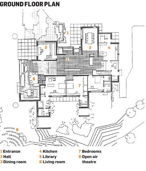 maison carr e aalto plan google. Black Bedroom Furniture Sets. Home Design Ideas