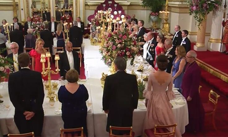 Queen Letizia and Kate Middleton dazzle in family jewels at the Queen's state banquet