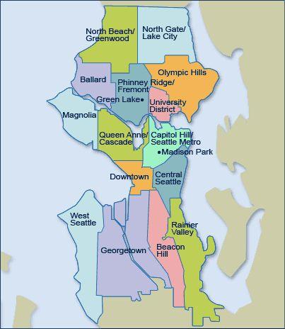 Seattle Neighborhood Map  Tour Of Seattle Wa  Healthy