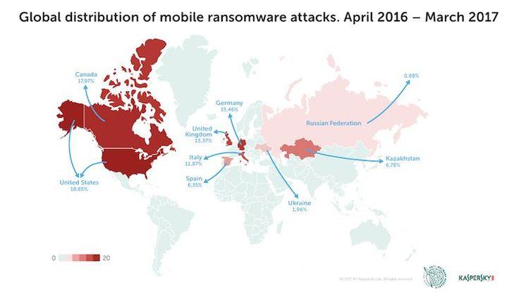 ransomware El ransomware móvil es una amenaza para los mercados desarrollados