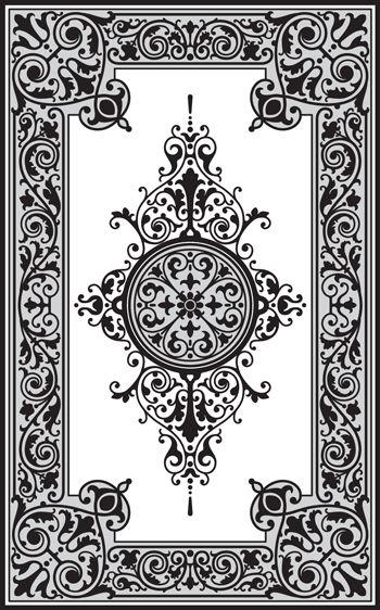Patrones personalizados y plantillas para el grabado, la pintura del faux, repujado, chorro de arena, paredes estarcen, yeso, vidrio, concreto y madera