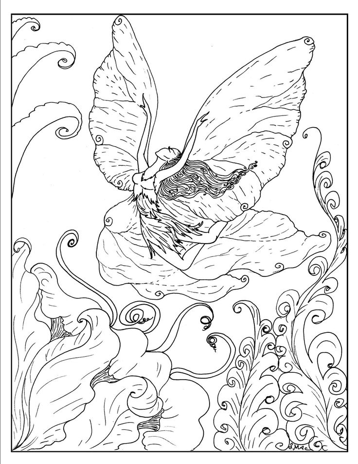 Best 79 Fairy Colouring Pages images on Pinterest | Coloring pages ...