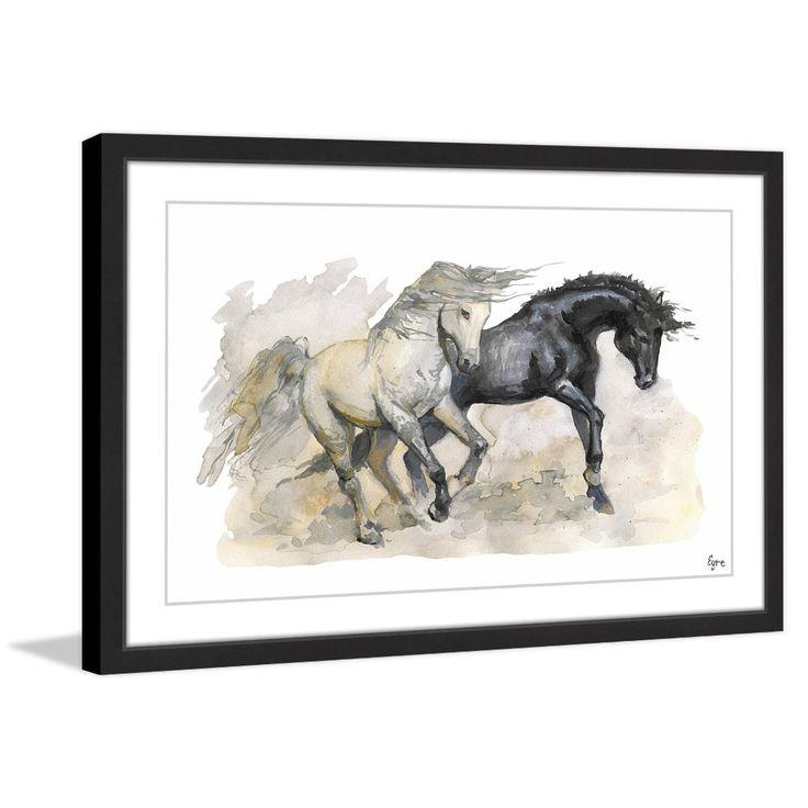 Los Caballos Salvajes' Framed Painting Print