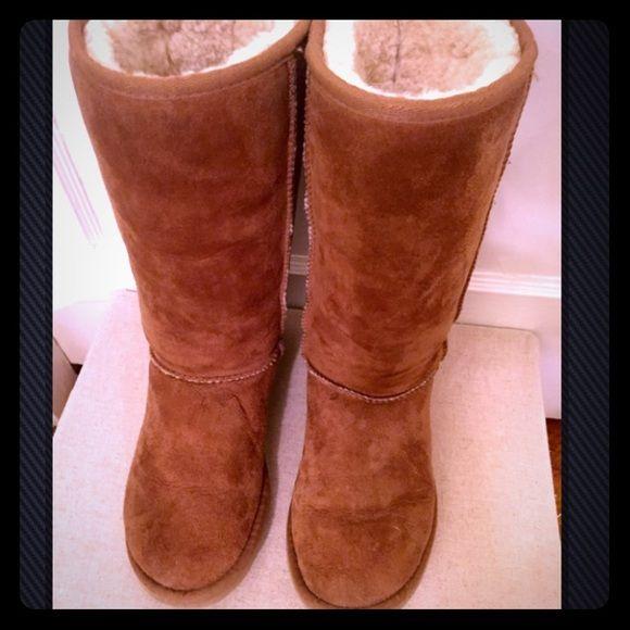 ugg boots chestnut size 6
