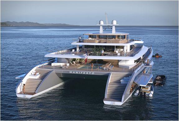 Manifesto 234ft (71m) catamaran mega yacht by VPLP Design